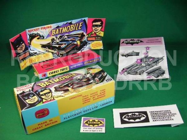 Corgi #267 Batmobile (1st type) - Reproduction Box